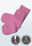 Absolutely Seamless Socks - SmartKnitKIDS ultimate comfort sock - PINK - Value 6 Pack